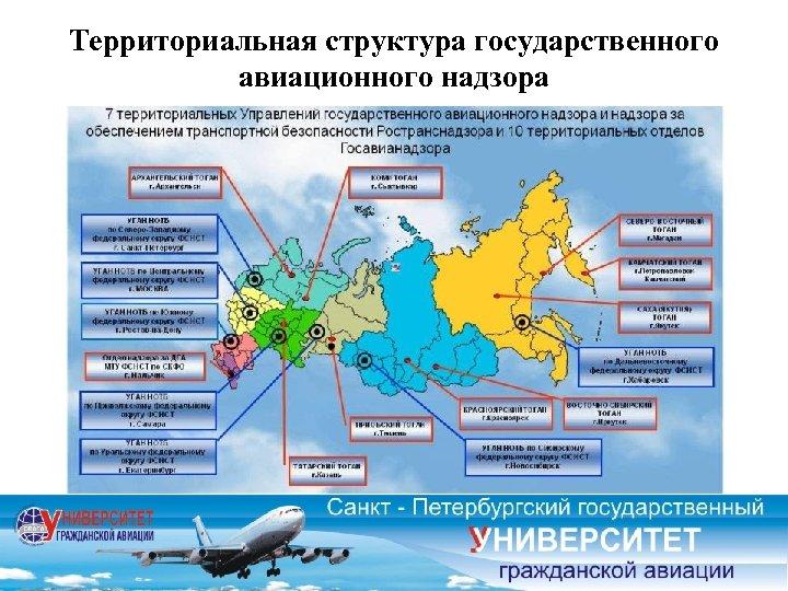 Территориальная структура государственного авиационного надзора