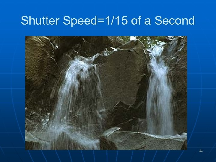 Shutter Speed=1/15 of a Second 11