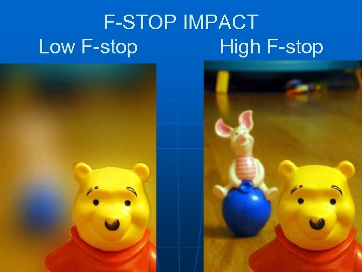 F-STOP IMPACT Low F-stop High F-stop 7