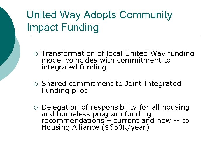 United Way Adopts Community Impact Funding ¡ Transformation of local United Way funding model