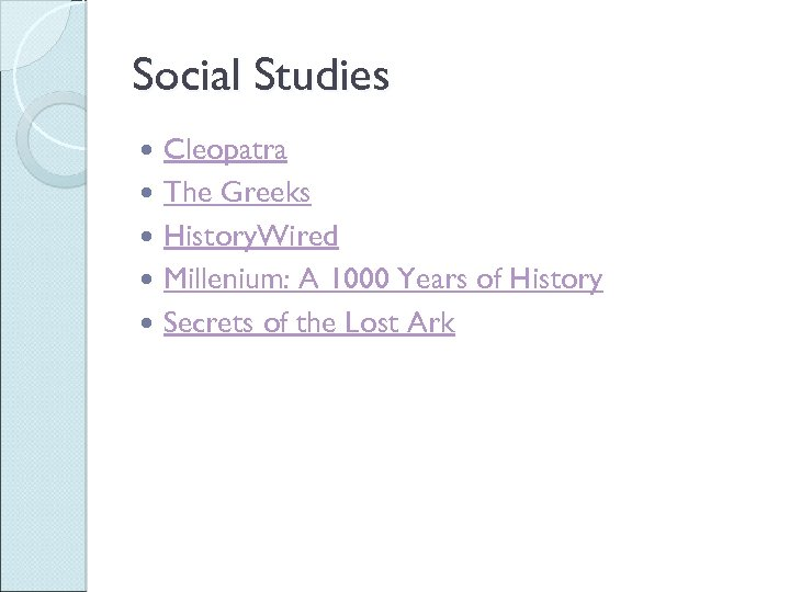 Social Studies Cleopatra The Greeks History. Wired Millenium: A 1000 Years of History Secrets