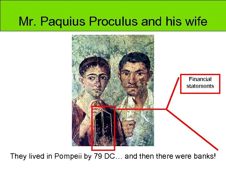 Mr. Paquius Proculus and his wife Financial statements They lived in Pompeii by 79