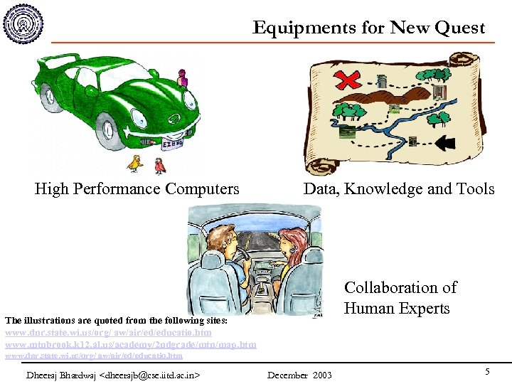 Equipments for New Quest High Performance Computers Data, Knowledge and Tools Collaboration of Human
