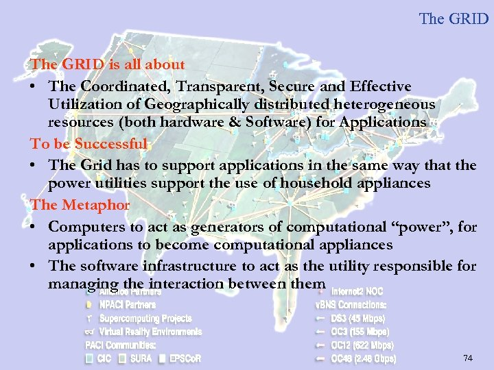 The GRID is all about • The Coordinated, Transparent, Secure and Effective Utilization of