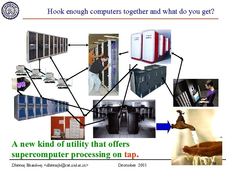 Hook enough computers together and what do you get? A new kind of utility