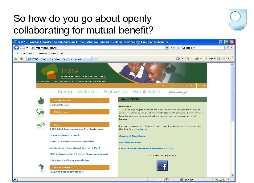 So how do you go about openly collaborating for mutual benefit?