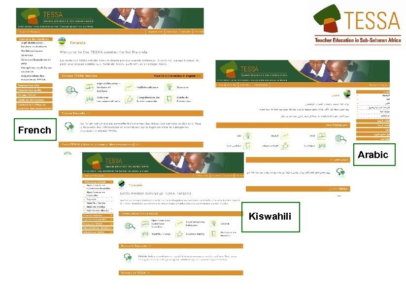 French Arabic Kiswahili