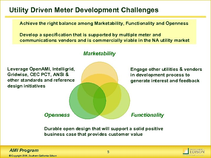 Utility Driven Meter Development Challenges Achieve the right balance among Marketability, Functionality and Openness