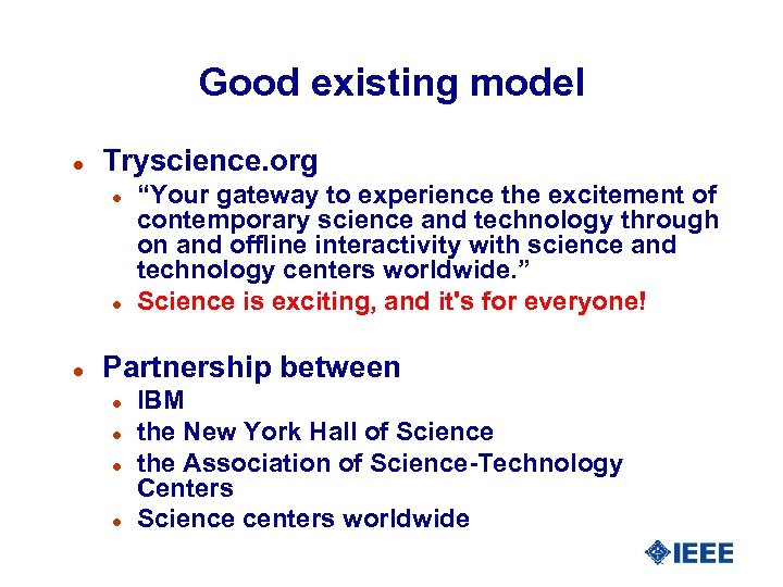 """Good existing model l Tryscience. org l l l """"Your gateway to experience the"""