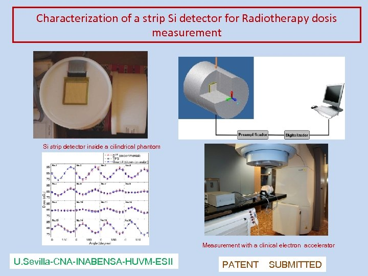 Characterization of a strip Si detector for Radiotherapy dosis measurement Si strip detector inside