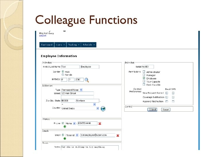 Colleague Functions