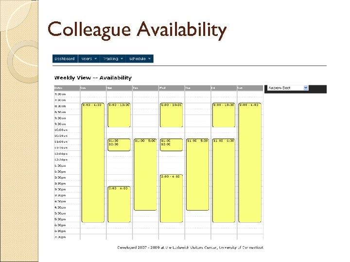 Colleague Availability