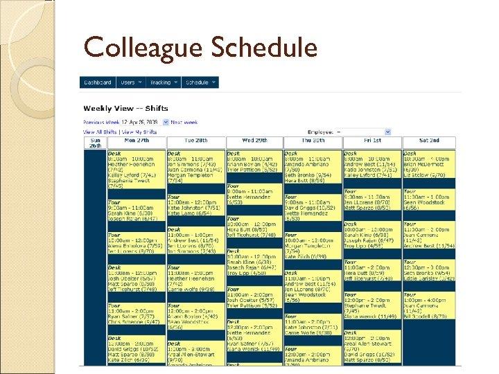 Colleague Schedule
