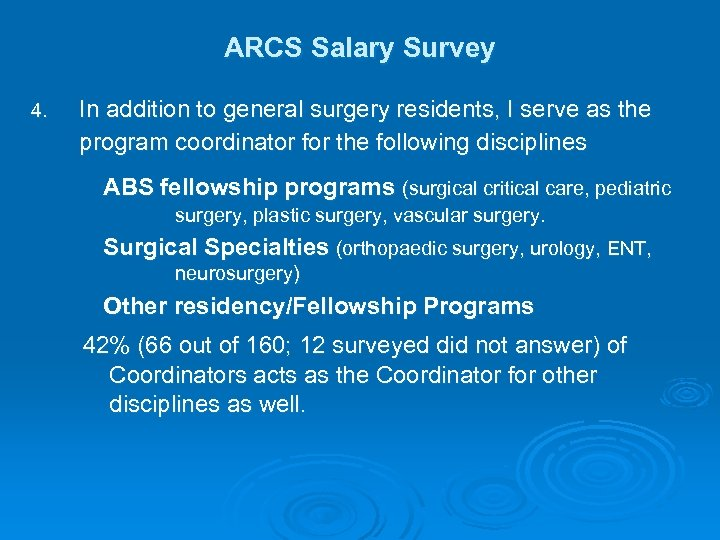 Association of Residency Coordinators in Surgery ARCS Salary