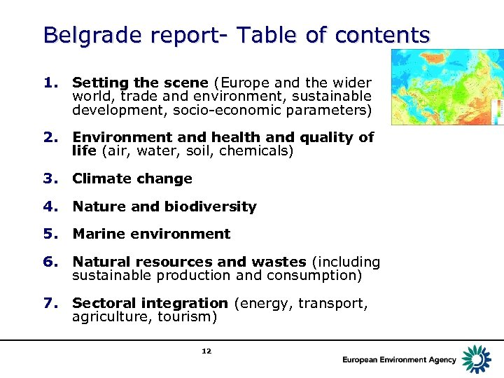 Belgrade report- Table of contents 1. Setting the scene (Europe and the wider world,