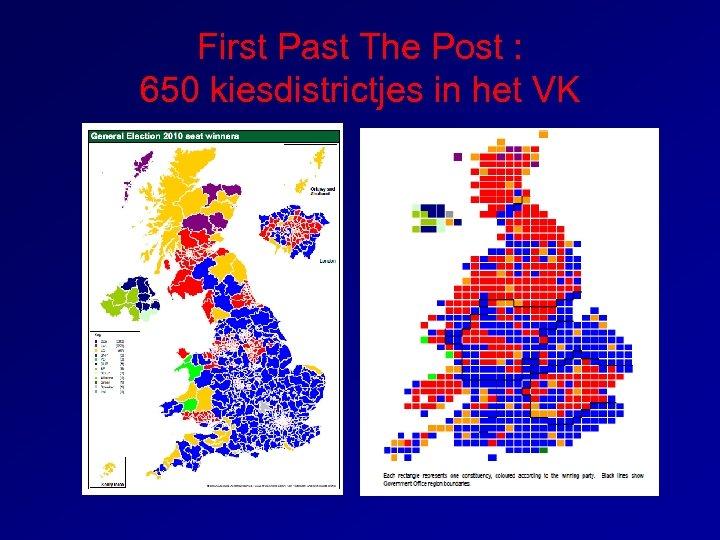 First Past The Post : 650 kiesdistrictjes in het VK