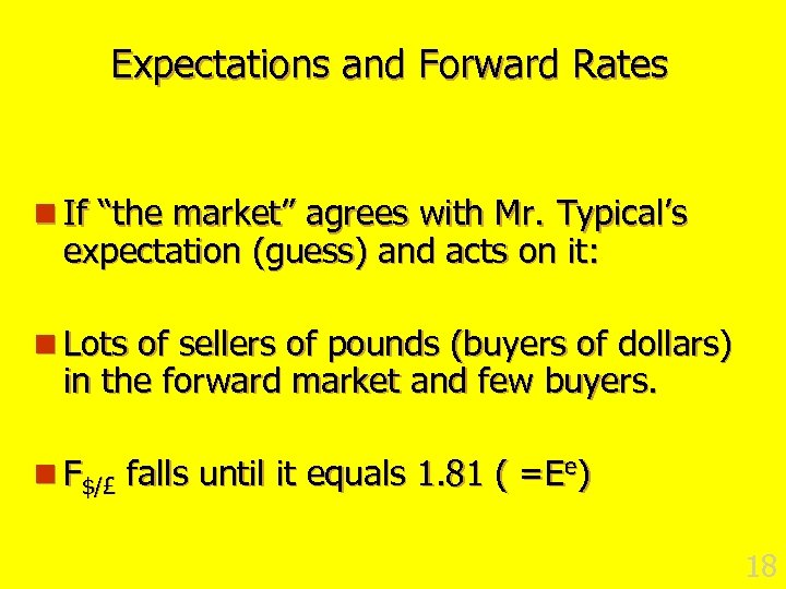 "Expectations and Forward Rates n If ""the market"" agrees with Mr. Typical's expectation (guess)"