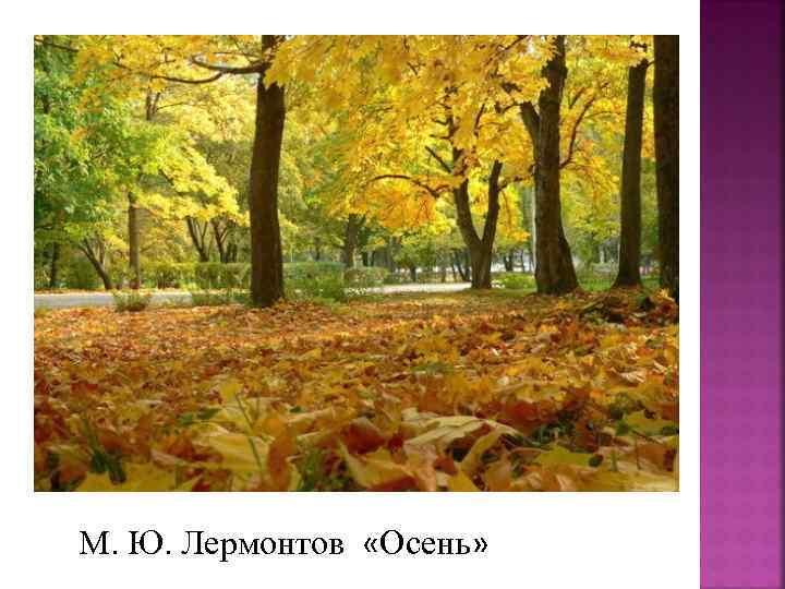 М. Ю. Лермонтов «Осень»