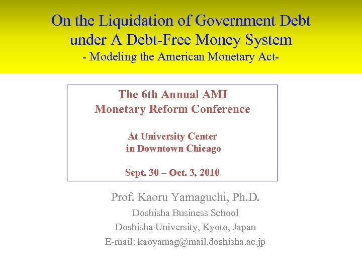 On the Liquidation of Government Debt under A Debt-Free Money System - Modeling the