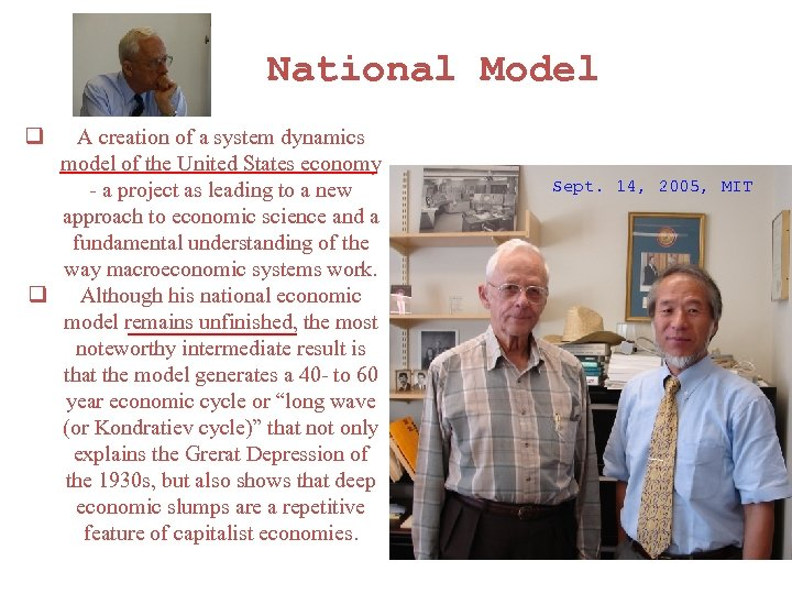 National Model q A creation of a system dynamics model of the United
