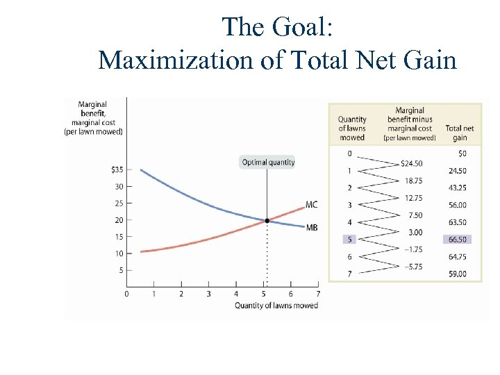 The Goal: Maximization of Total Net Gain