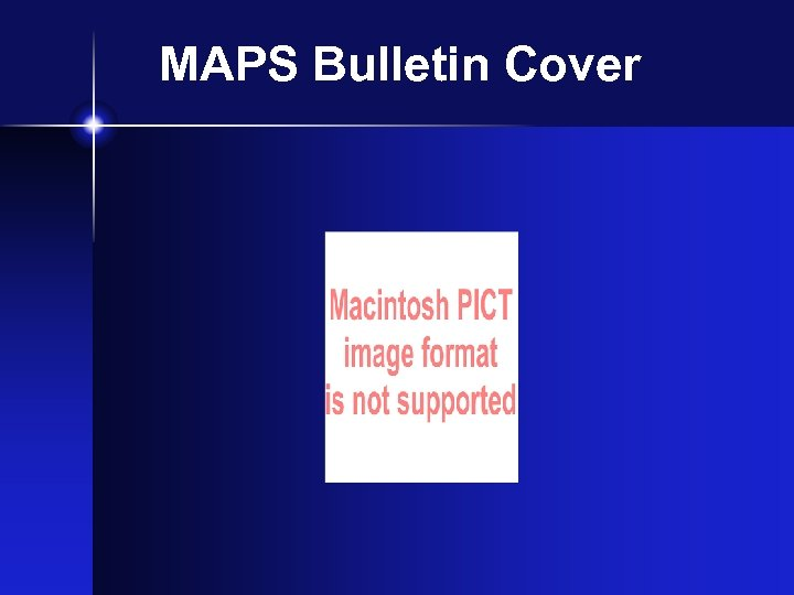 MAPS Bulletin Cover