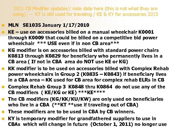 2011 CB Modifier updates// note date here (this is not what they are using)