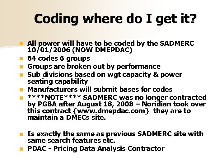 Coding where do I get it? n n n All power will have to