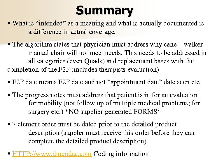 """Summary § What is """"intended"""" as a meaning and what is actually documented is"""