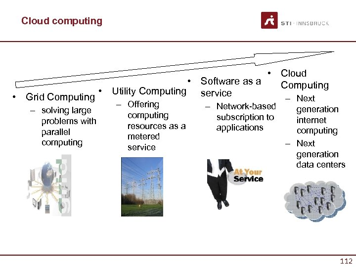 Cloud computing • Cloud • Software as a Computing • Utility Computing service •