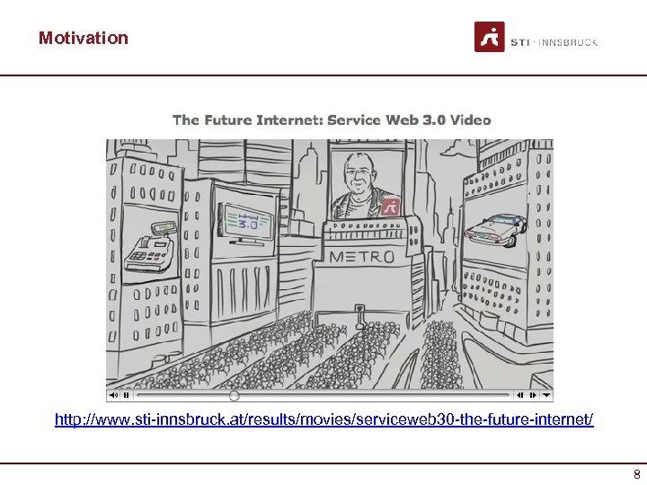 Motivation http: //www. sti-innsbruck. at/results/movies/serviceweb 30 -the-future-internet/ 8