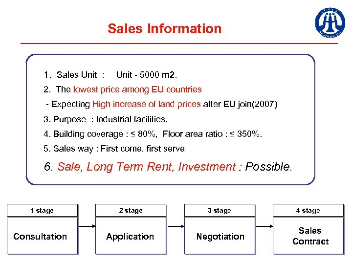 Sales Information 1. Sales Unit : Unit - 5000 m 2. The lowest price