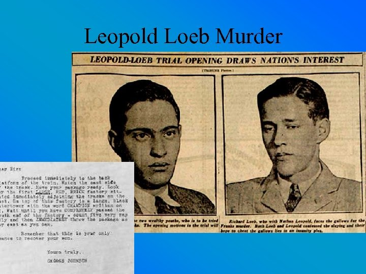 Leopold Loeb Murder