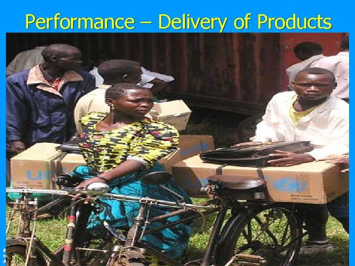 Performance – Delivery of Products