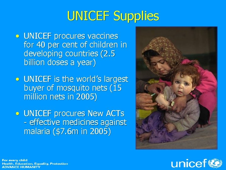 UNICEF Supplies • UNICEF procures vaccines for 40 per cent of children in developing