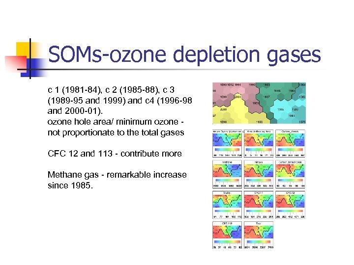 SOMs-ozone depletion gases c 1 (1981 -84), c 2 (1985 -88), c 3 (1989