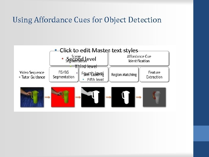 Using Affordance Cues for Object Detection • Click to edit Master text styles •