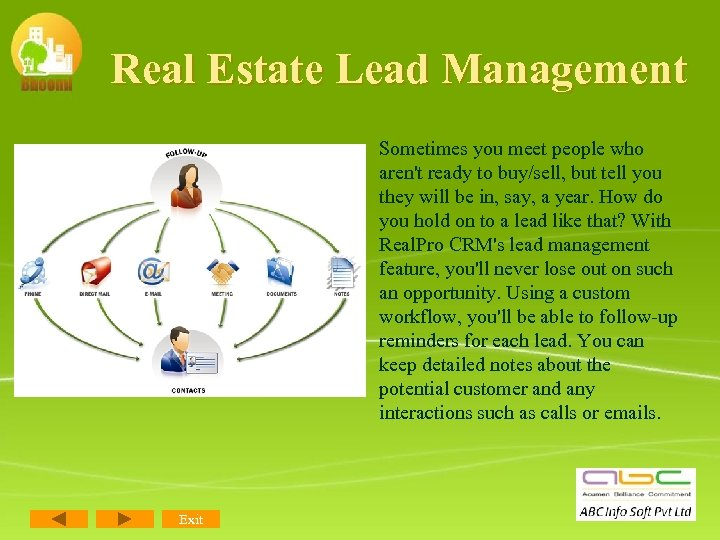 Real Estate Lead Management Sometimes you meet people who aren't ready to buy/sell, but