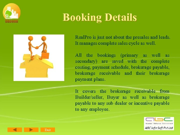 Booking Details Real. Pro is just not about the presales and leads. It manages