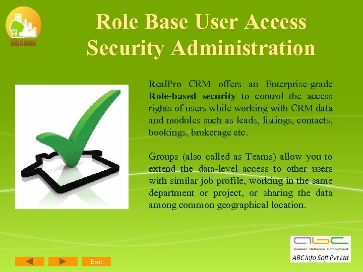 Role Base User Access Security Administration Real. Pro CRM offers an Enterprise-grade Role-based security