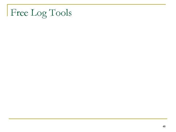 Free Log Tools 48