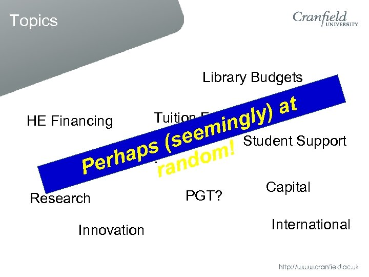 Topics Library Budgets Tuition Fees ) at gly in eem Student Support (s aps
