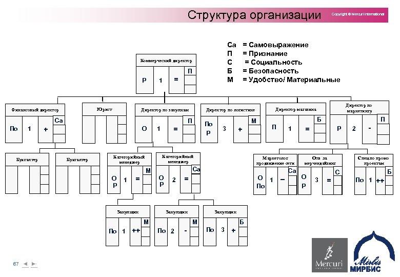 Структура организации Са П С Б М Коммерческий директор П Р Юрист Финансовый директор