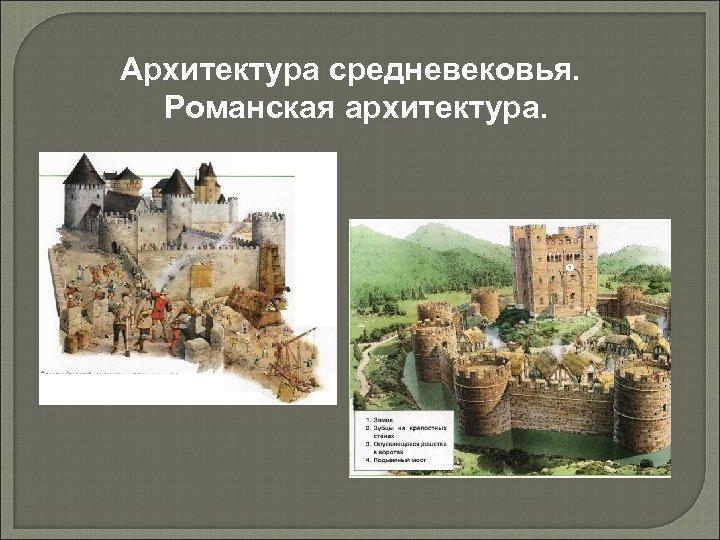 Архитектура средневековья. Романская архитектура.