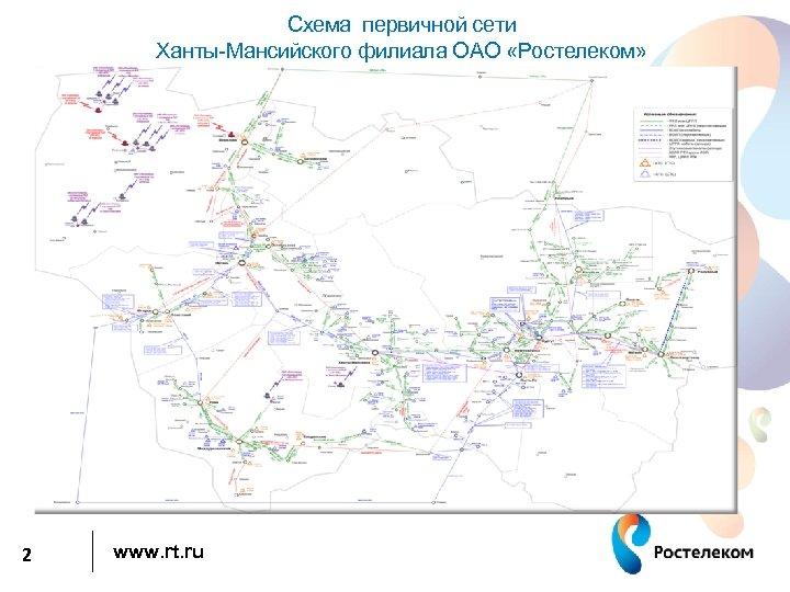 Схема первичной сети Ханты-Мансийского филиала ОАО «Ростелеком» 2 www. rt. ru