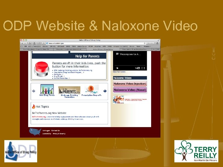 ODP Website & Naloxone Video