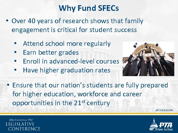 Why Fund SFECs • Over 40 years of research shows that family engagement is