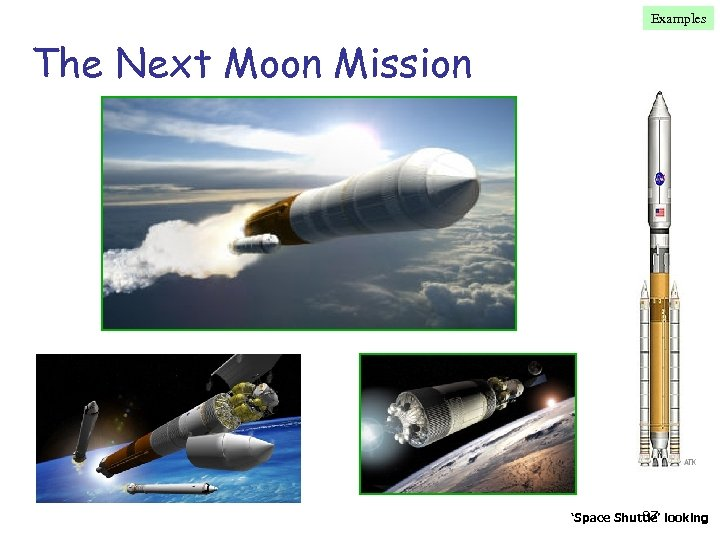 Examples The Next Moon Mission 87 'Space Shuttle' looking