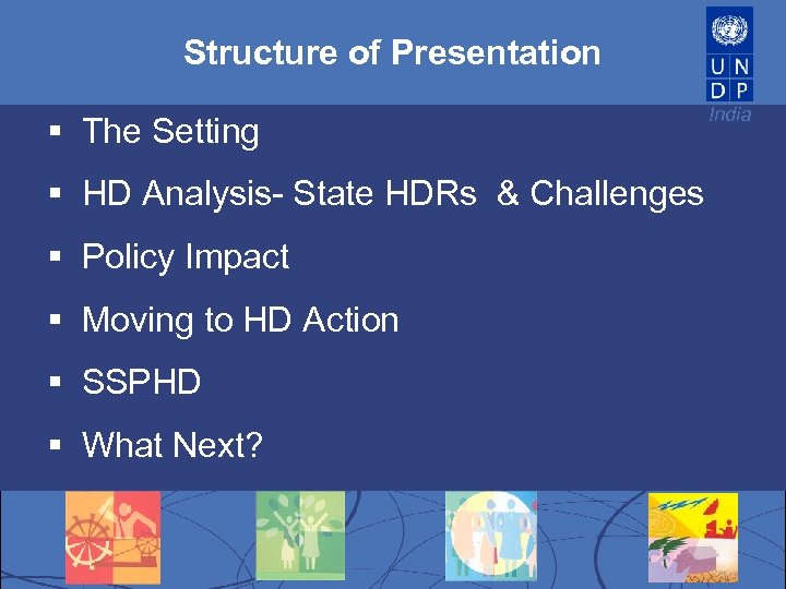 Structure of Presentation § The Setting § HD Analysis- State HDRs & Challenges §