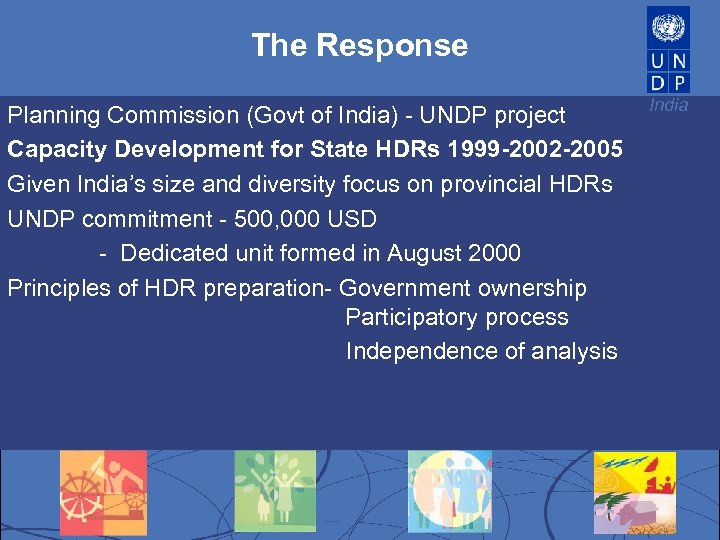 The Response Planning Commission (Govt of India) - UNDP project Capacity Development for State
